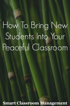 Smart Classroom Management: How To Bring New Students Into Your Peaceful Classroom